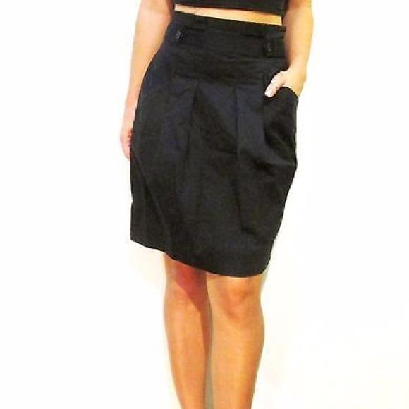 BCBG Maxazria High Waisted Skirt on Sale (Black)!!