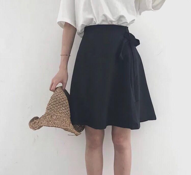 Sale Black A-line Skirt