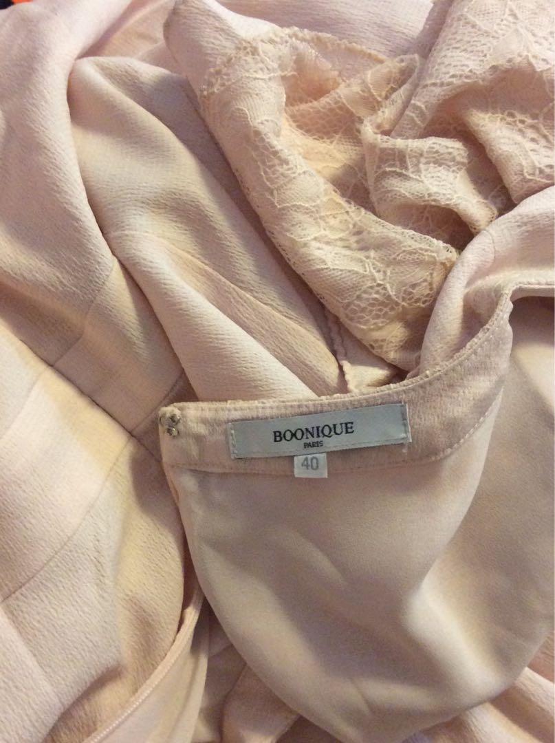 Boonique 40號粉色過膝洋裝