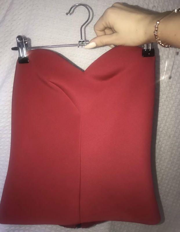 Camilla And Marc Bustier Size 8 Women's Brand New Without Tags Never Worn Red