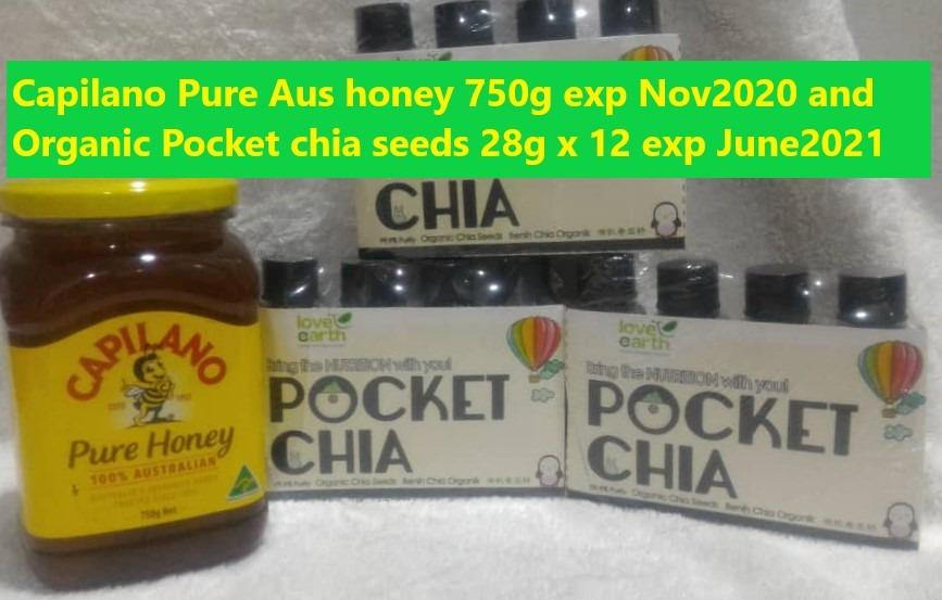 Capilano Pure Australian Honey and 12 bottles Pocket Chia Seeds