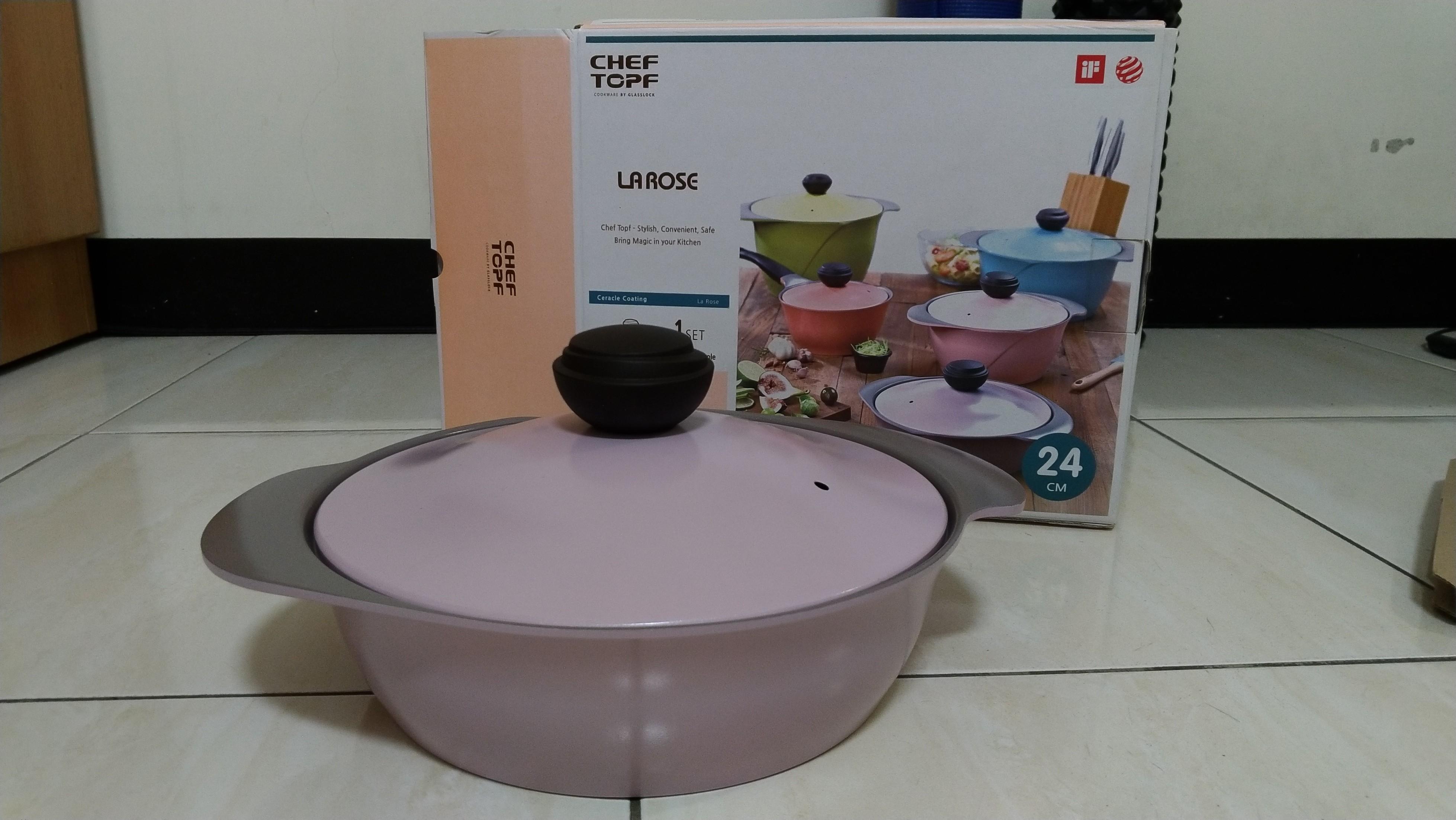 Chef topf 玫瑰鍋 24cm雙柄火鍋湯鍋