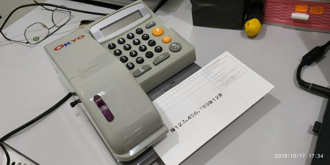 Cheque Writer, Check Writer MCEC 310 Cheque Printer - USED but in  GOOD CONDITION!