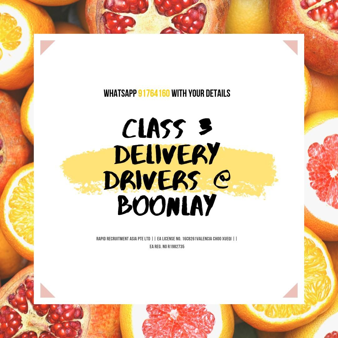 Class 3 Delivery Drivers - West (Fruits & Vegetables)