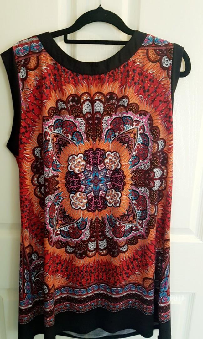 Colourful straightcut dress