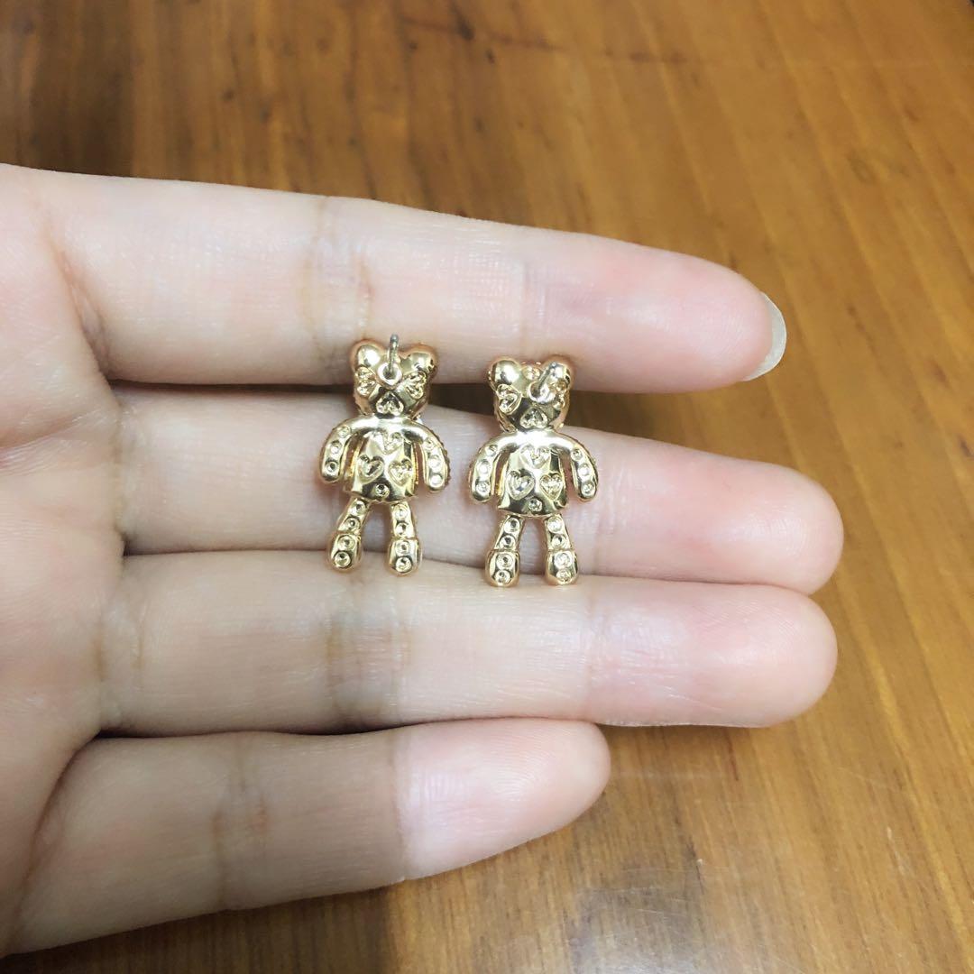 閃石熊仔耳環earrings(原價$69)