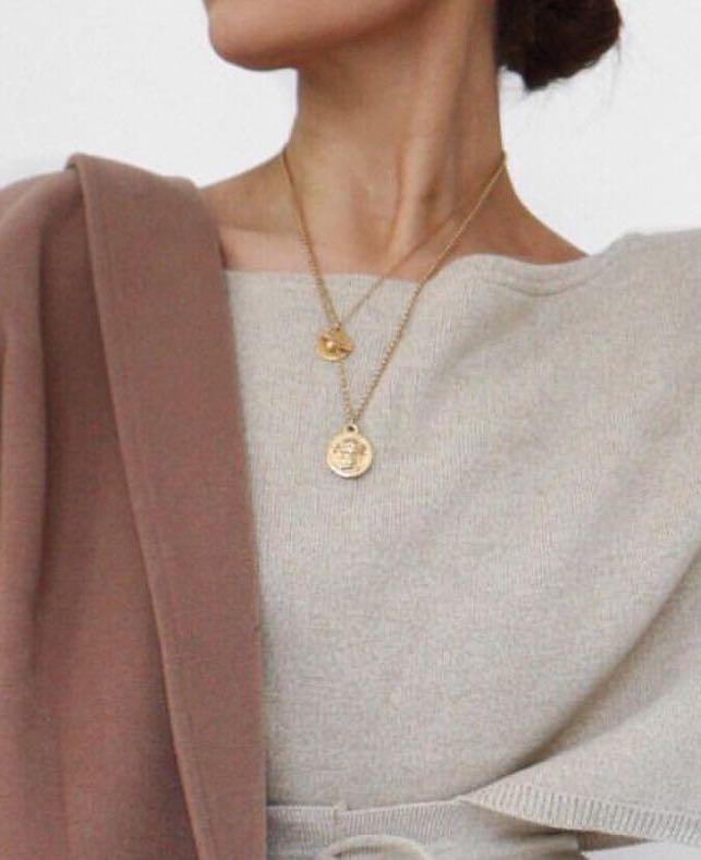 Greek Face Necklace
