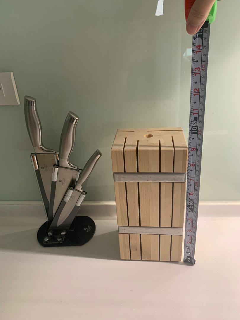 Ikea 木頭刀架