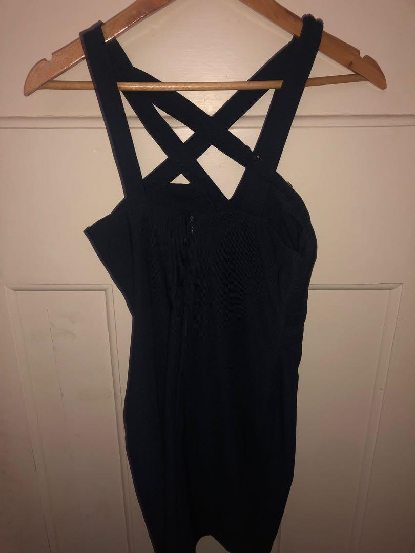 Lipsy Dress navy blue embellished. Size 8 negotiable