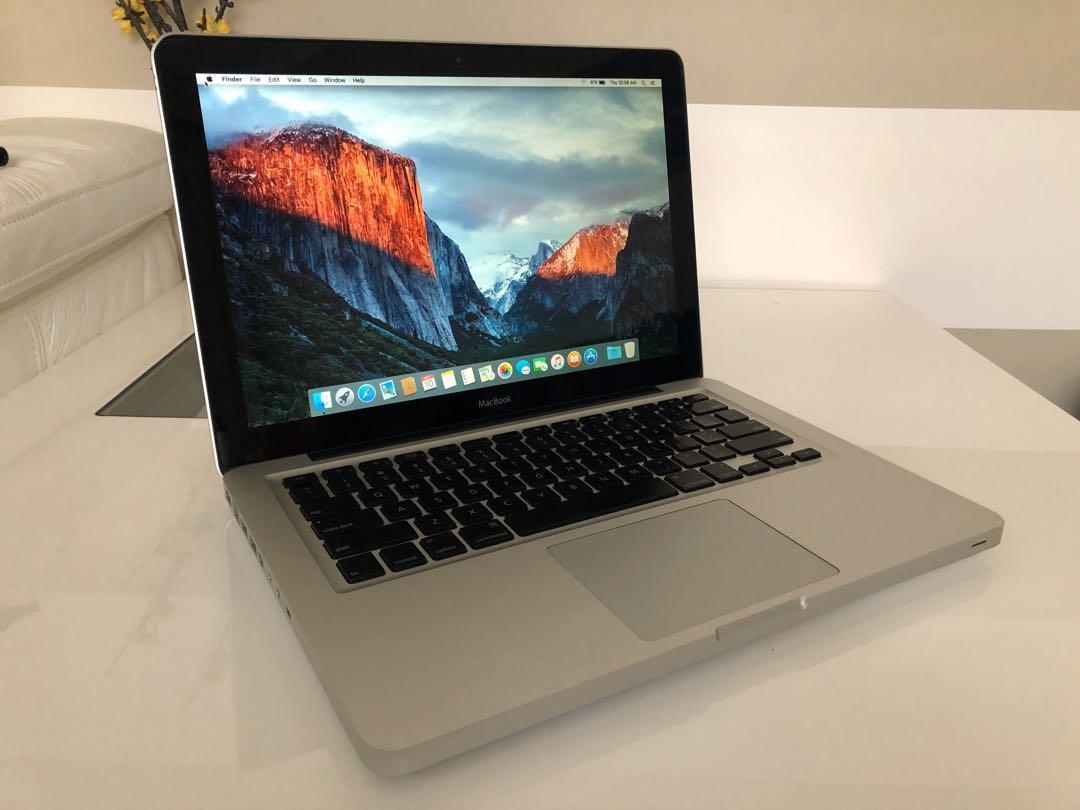 "MacBook 13 C2D Laptop Late 2008 El Capitan 13.3"" 4GB 250GB"