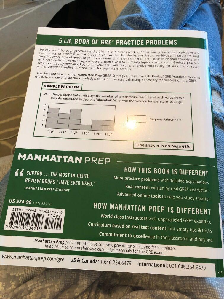 Manhattan Prep GRE 5 Lb Book of Practice Problems