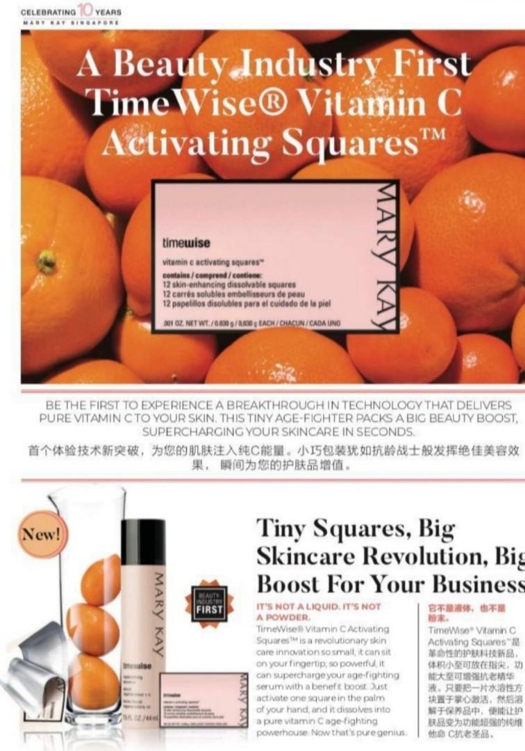 Mary kay timewise vitamin c activating squares
