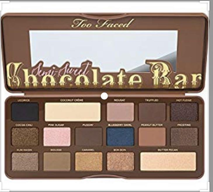 New and unused too faced semi sweet chocolate bar palette $40