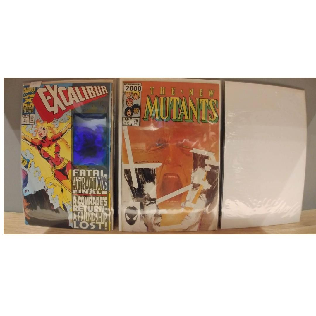 New Mutants (1983 1st Series) #26 WITH FREE EXCALIBUR #71 and 1(ONE)MYSTERY COMIC BOOK