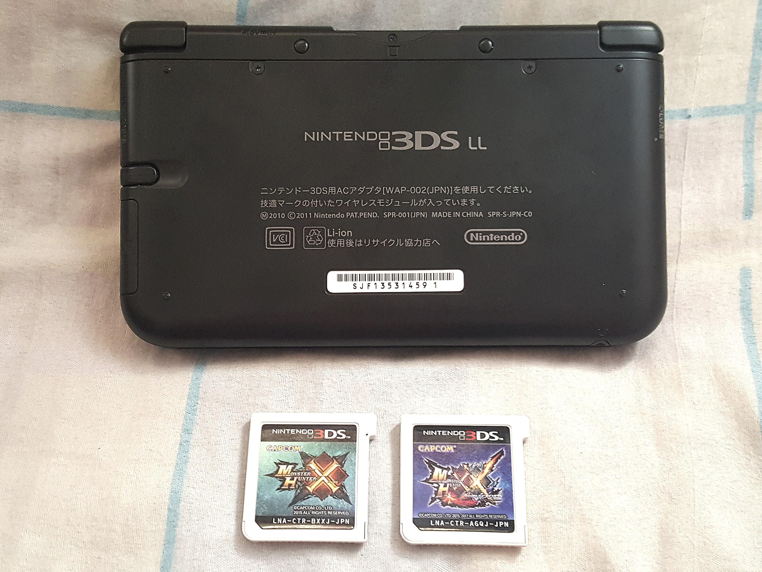 Nintendo 3DS LL Japan Version. Have 2 Original 3DS Game, Monster Hunter X & Monster Hunter XX, Japan Versions. 100% Work 3DS!