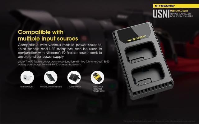 Nitecore Battery Charger USN1 for Sony NP-FW50