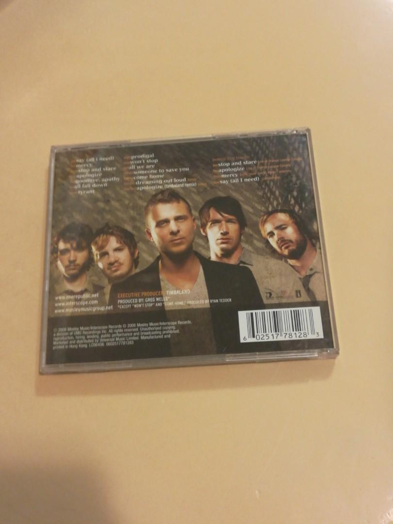 One Republic Dreaming out loud limited tour edition