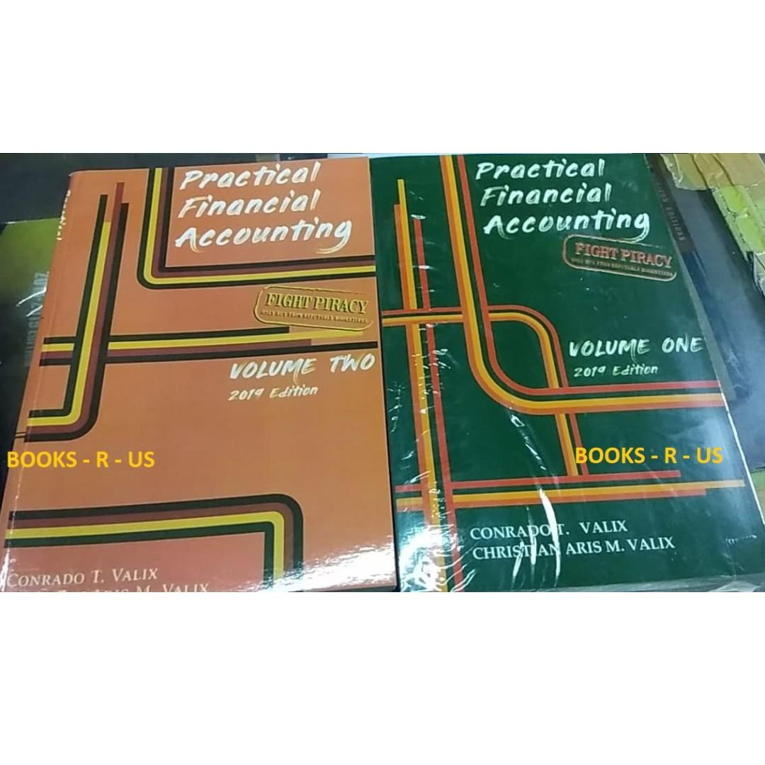 PROMO:Practical Financial Accounting Book Volume 1 and 2 Valix 2019 LATEST EDITION