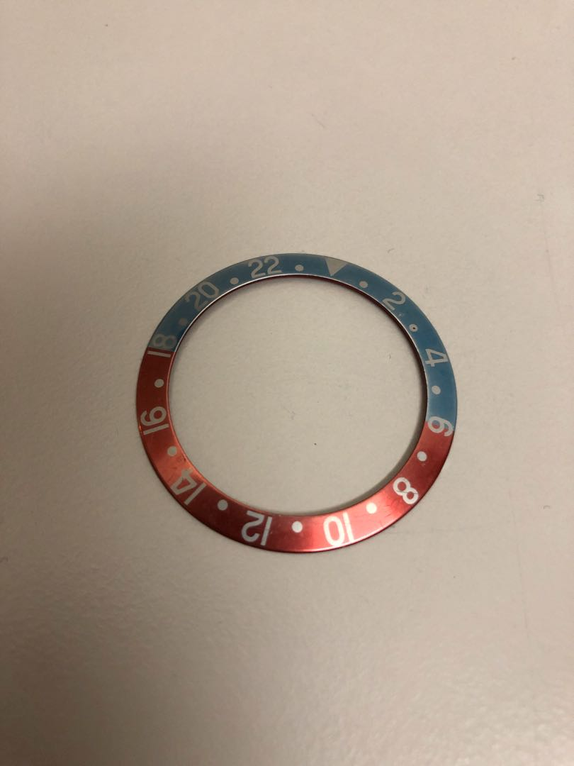 Rolex GMT 1675 Perfect Faded Cherry and Sky Blue Insert