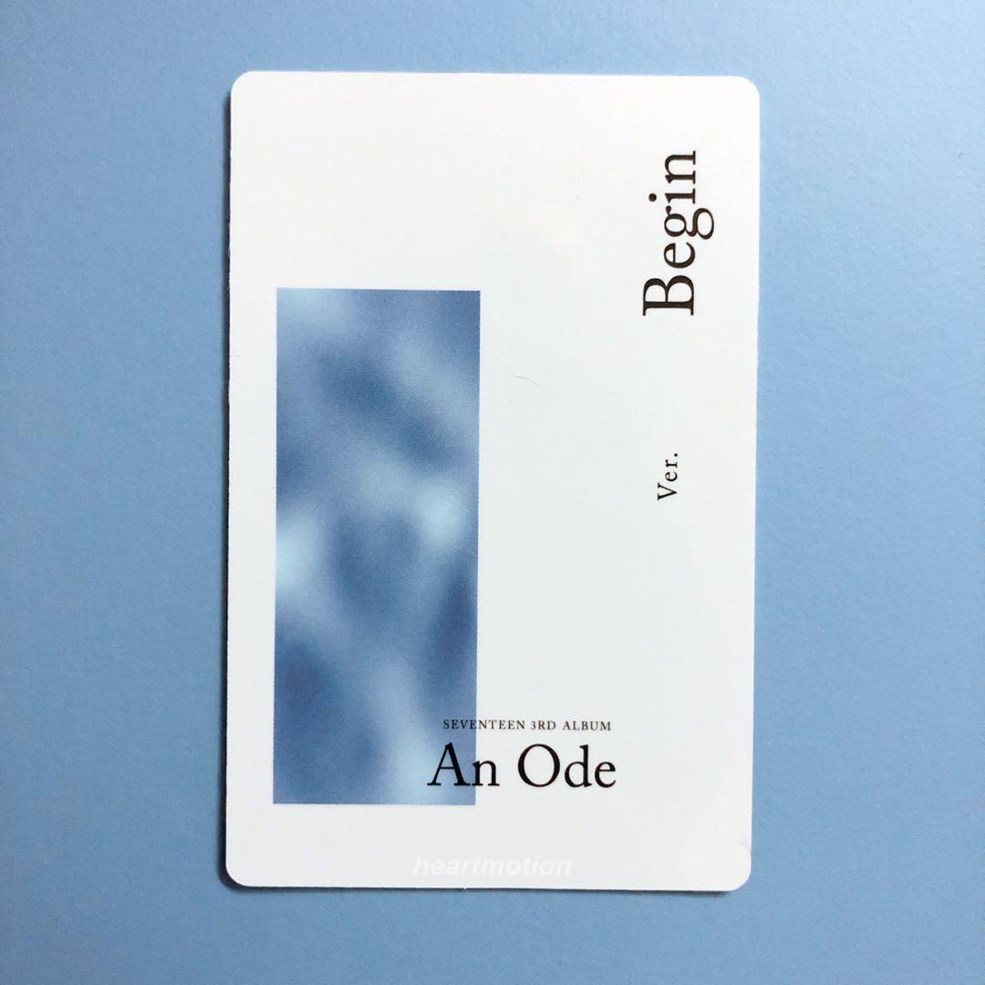Seventeen An Ode Begin Version - DK Photocard