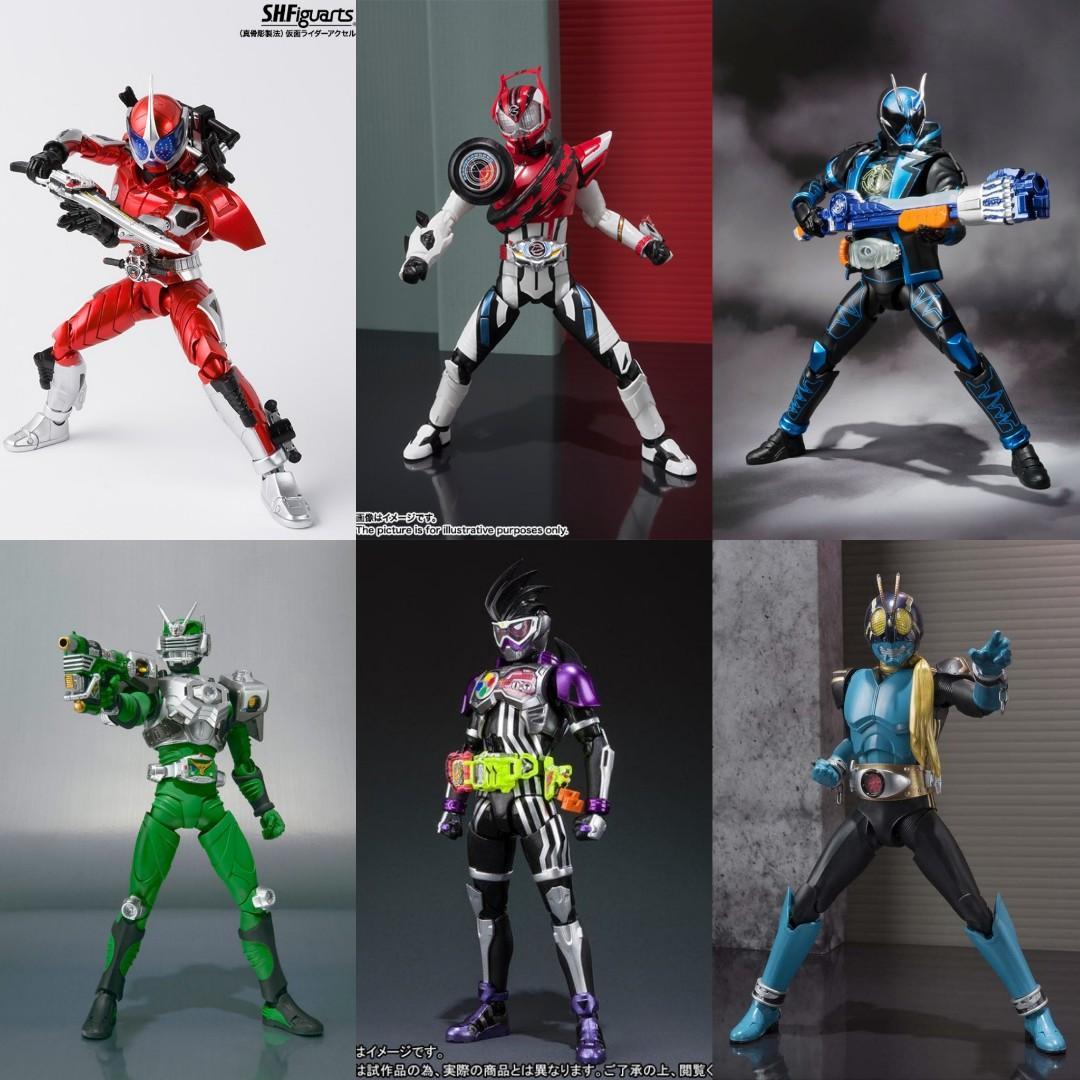 Set of 6 S.H.Figuarts Kamen Rider Genm Level 0 Ghost Specter Sango Zolda Drive Dead Heat Accel SHF Figuarts toy figure