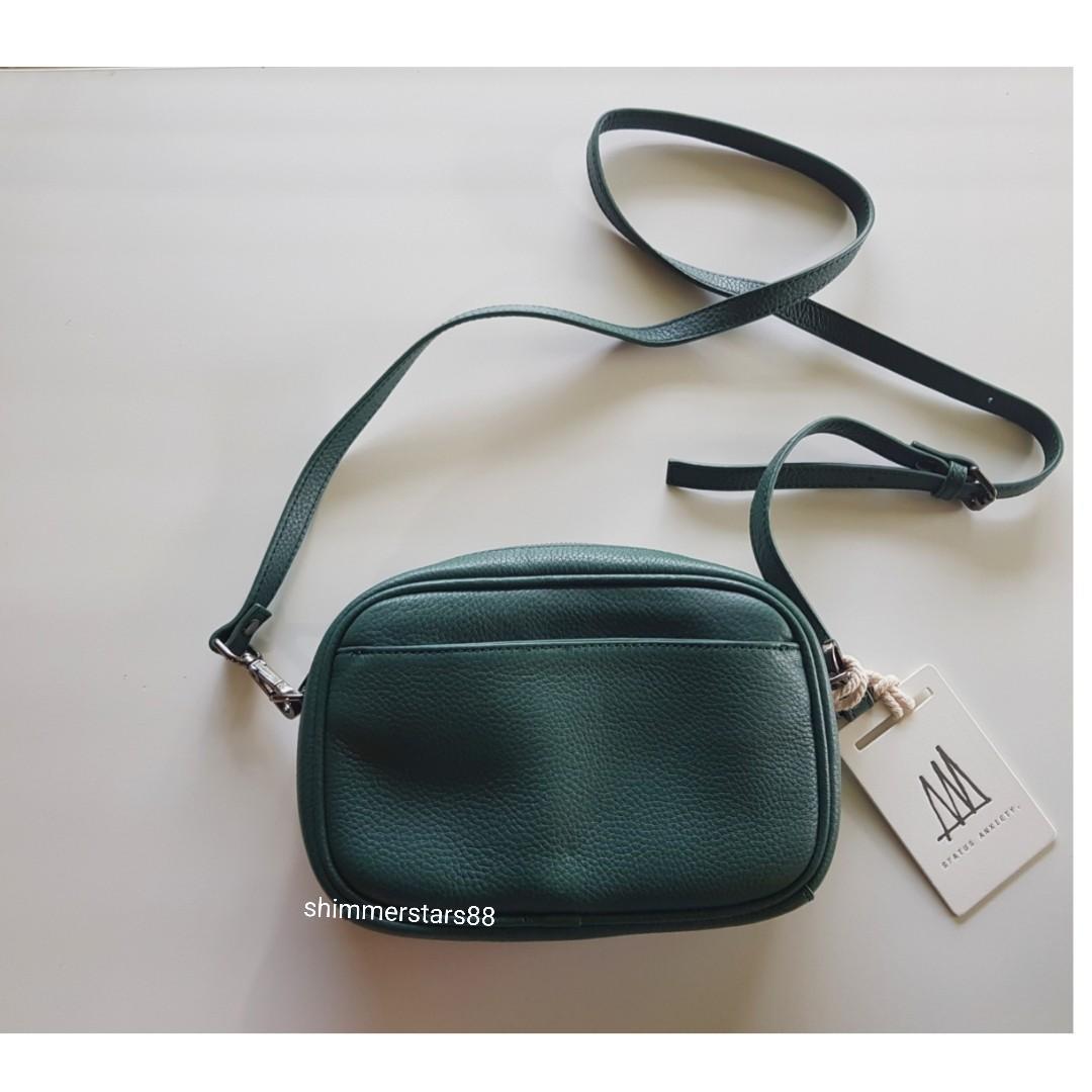 Status Anxiety Plunder Green crossbody bag, RRP$169.95