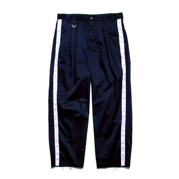 Uniform experiment 2 tuck side line relax fit pant Navy UE