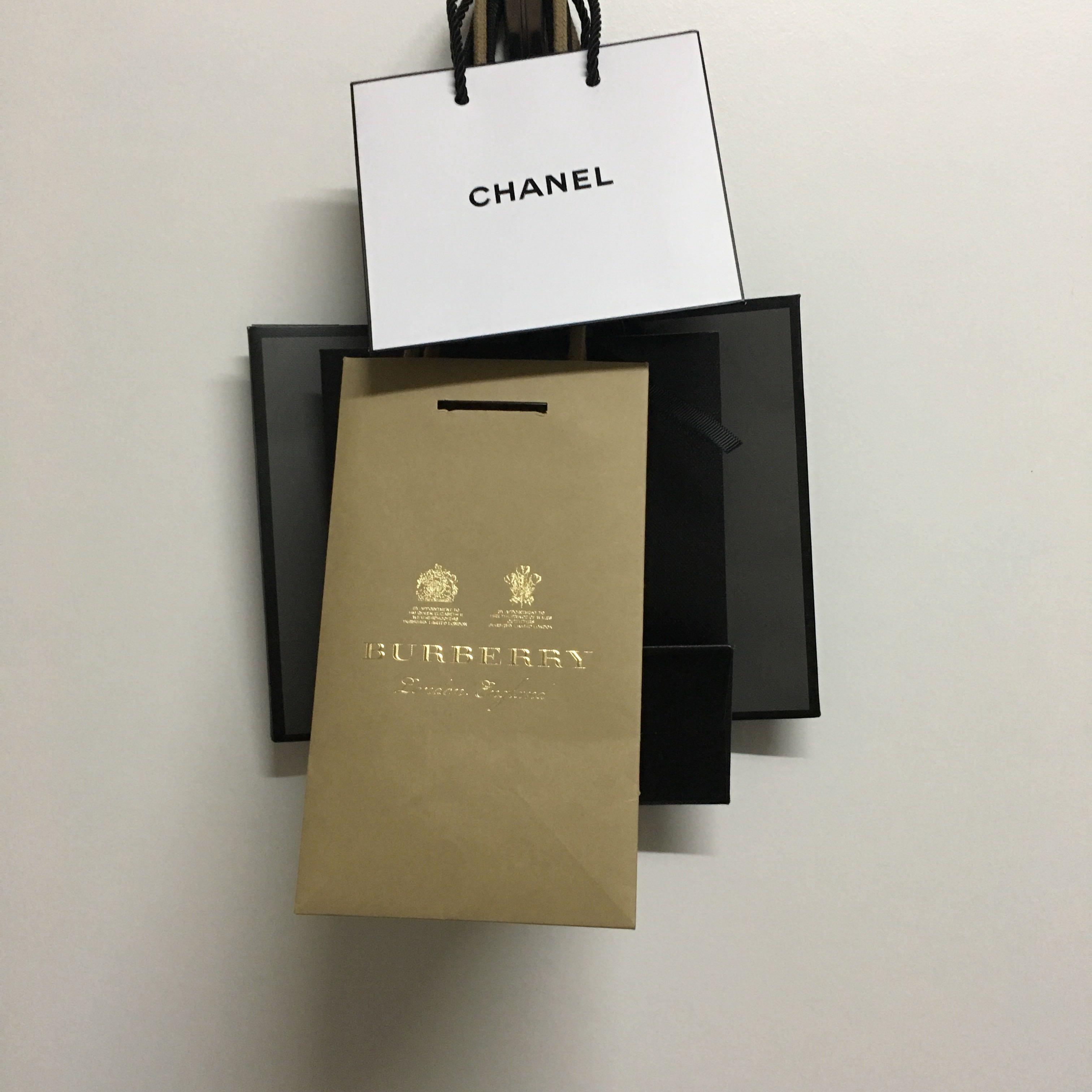 Very cute and small designer paperbag chanel burberry tom ford  pedro