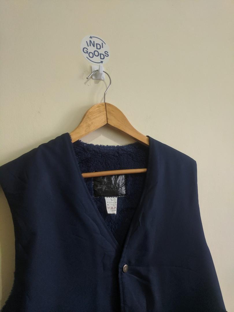 Vintage Nylon Royal Blue Inner Sherpa Vest