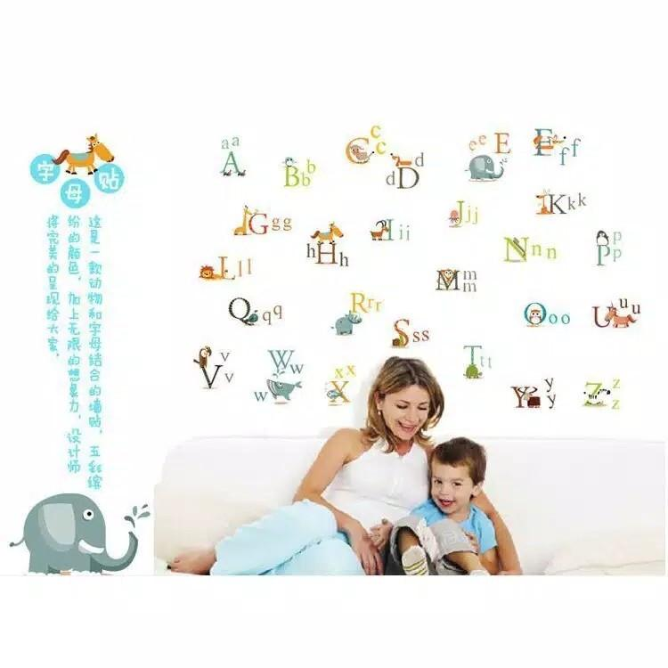 Wallsticker abjad n animal