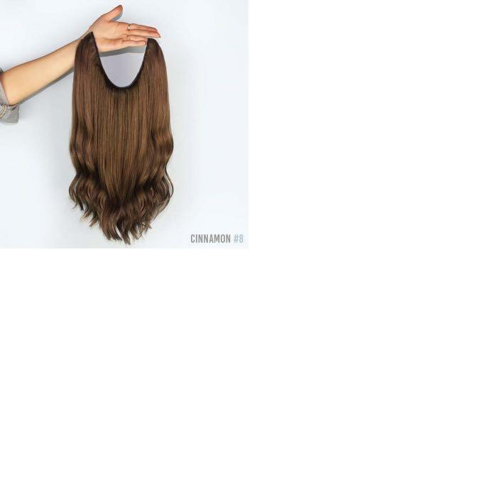 Zala 250gr premium halo dark brown hair extension 20""