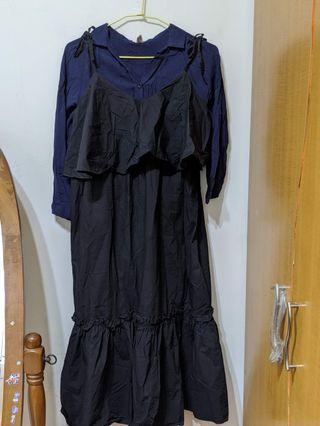 吊帶裙 套襯衫 套裝
