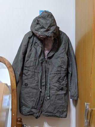 舖毛軍外套