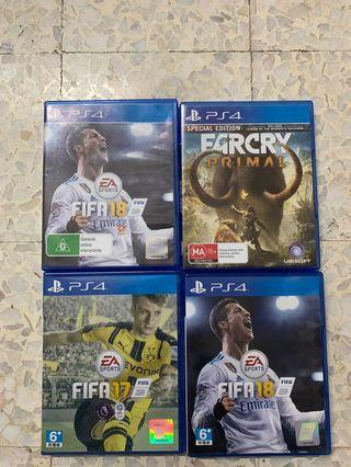 PS4 Used Games Fifa , Far Cry Primal