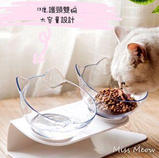 貓耳朵貓碗 斜口貓碗 貓碗