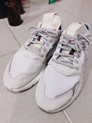 Adidas Nite jogger 3M 聯名款 灰白色 九成新