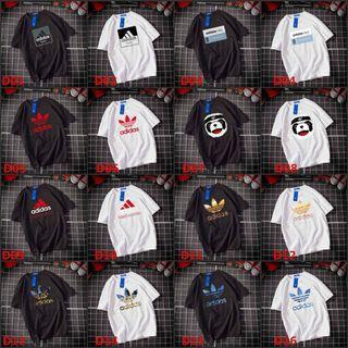全新現貨Adidas三葉草短袖T恤 純棉印花logo圖案T恤大學T男女短T