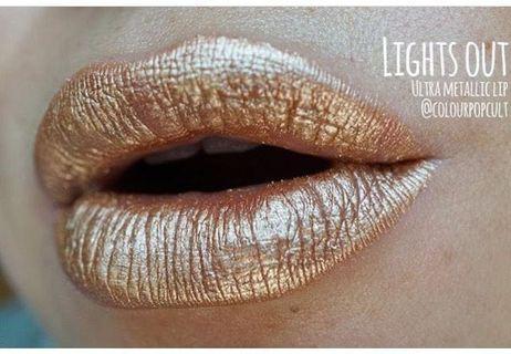 Colourpop ultra metallic lip lights out