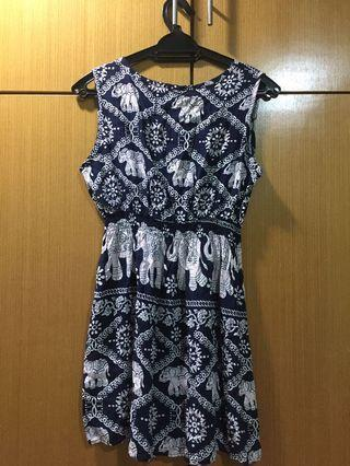 Elephant print dress / swimming suit outerwear