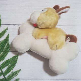 【玩偶】適合幼兒的娃娃,狗狗與骨頭。二手轉賣