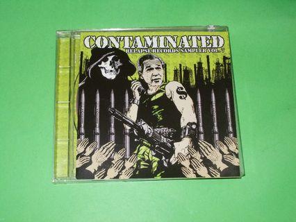 CD VARIOUS ARTISTS : CONTAMINATED . RELAPSE RECORDS SAMPLER VOL.7 ALBUM (2005) DEATH METAL GRINDCORE