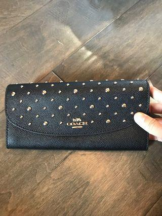 COACH ALL OVER RIVETS SLIM WALLET