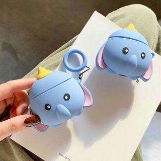 【肉肉3C】現貨-超可愛小飛象Apple airpods保護套 無線藍芽耳機保護套 蘋果耳機套卡通耳機套藍芽耳機套 卡通收納盒