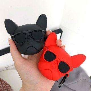 【肉肉3C】現貨-立體鬥牛犬Apple airpods保護套 藍芽耳機保護套 蘋果耳機套 狗狗耳機套 法鬥耳機套 動物耳機套