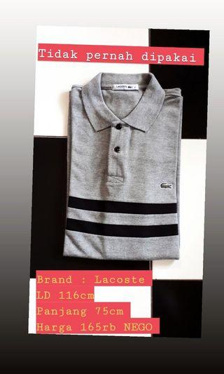#maugendongan PL polo shirt Lacoste abu