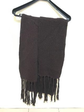 酒紅針織圍巾