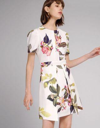 BNWT puff sleeve floral dress