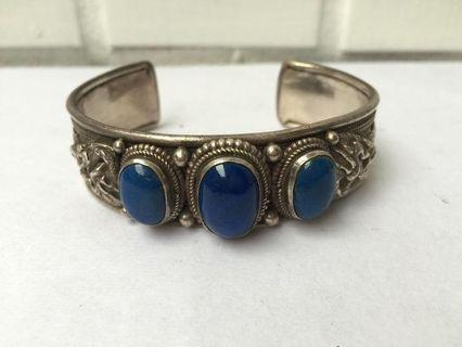 925純銀手工掐絲手環