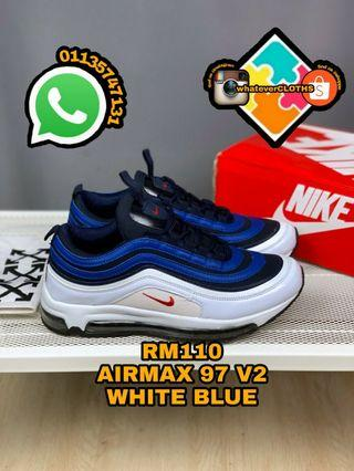 , AIRMAX 97 V2 WHITE BLUE (pm me for more size)
