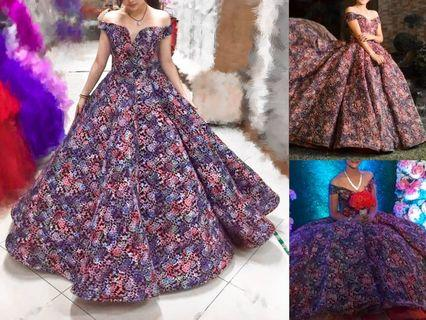 Floral Ball gown for rent